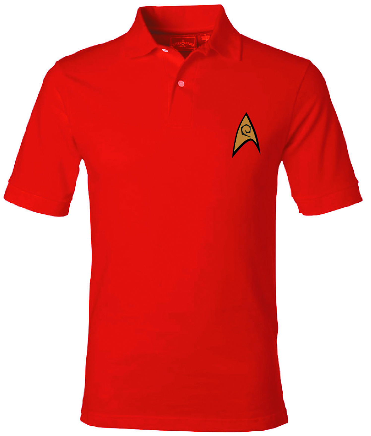 ST STARFLEET ENGINEERING SYMBOL RED POLO XXL