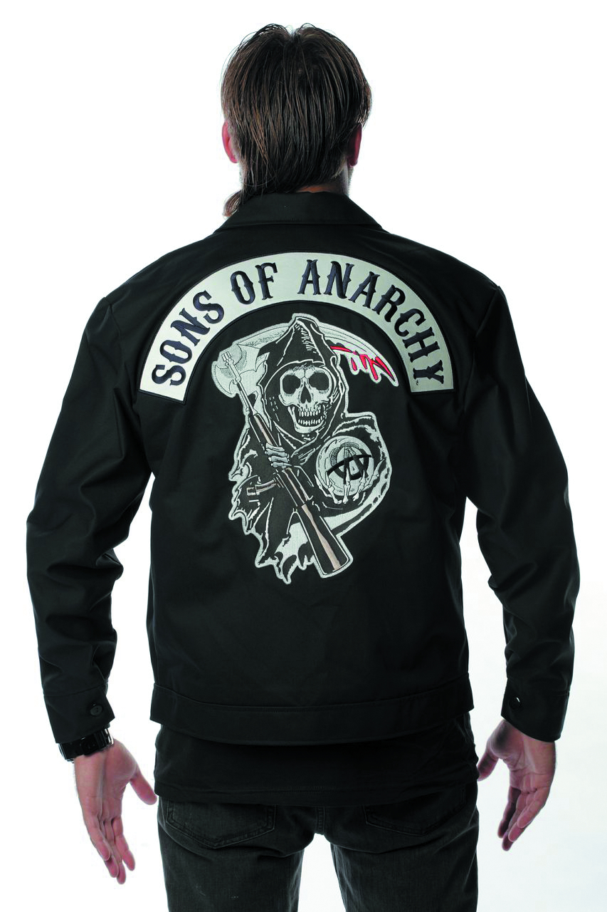 jul131754 sons of anarchy logo mechanic jacket lg. Black Bedroom Furniture Sets. Home Design Ideas