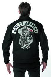 SONS OF ANARCHY LOGO MECHANIC JACKET LG