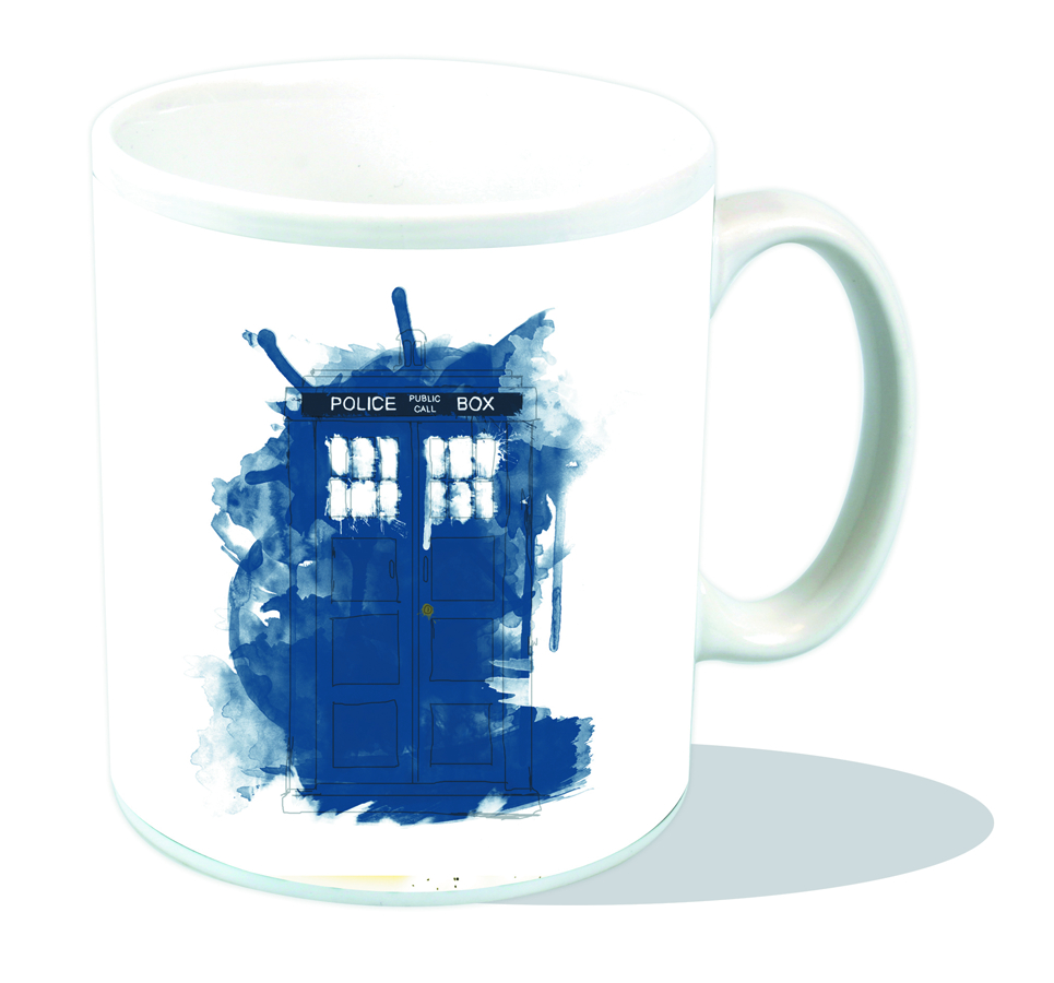 DOCTOR WHO MODERN ART TARDIS MUG