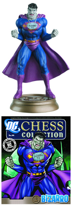 DC SUPERHERO CHESS FIG COLL MAG #44 BIZARRO BLACK PAWN