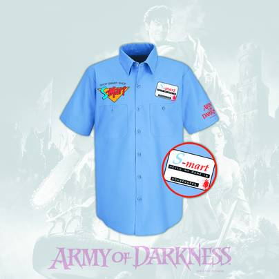 ARMY OF DARKNESS S-MART PX WORK SHIRT SM