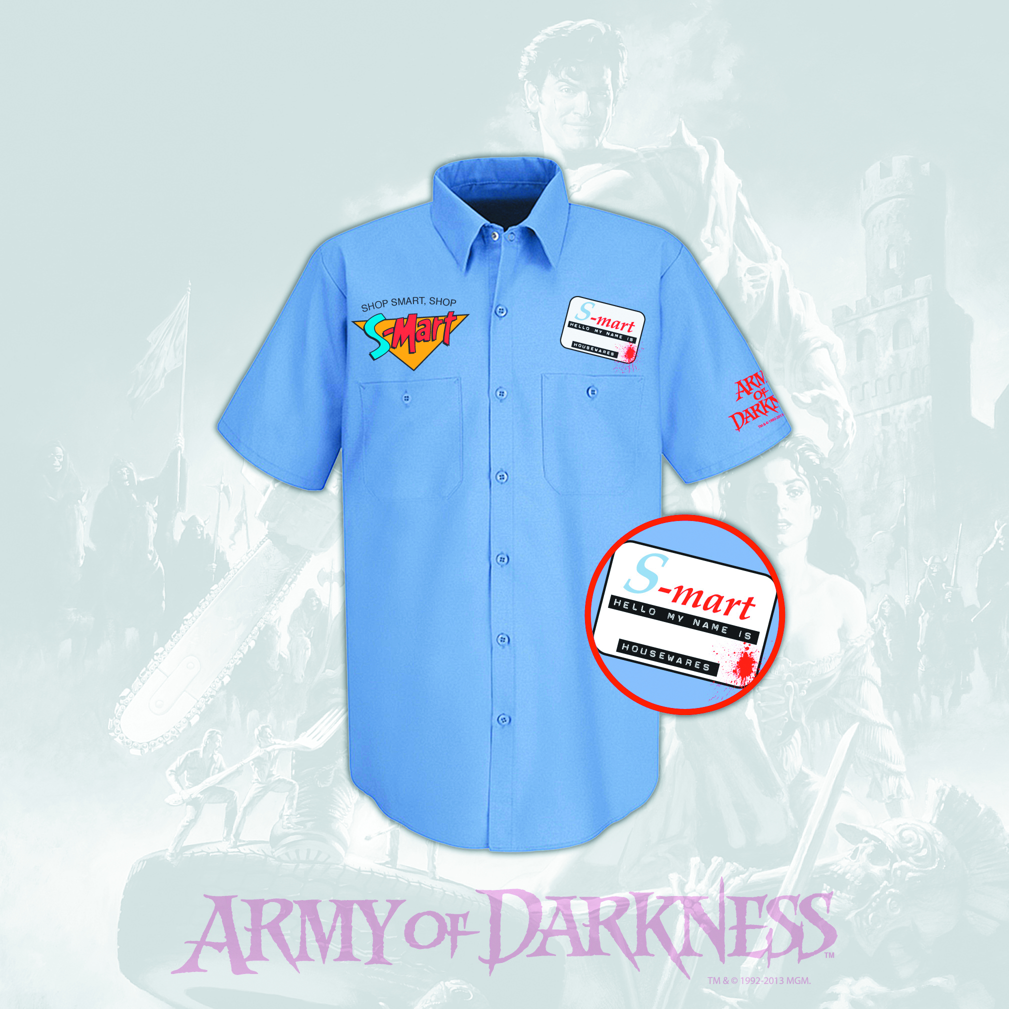 ARMY OF DARKNESS S-MART PX WORK SHIRT LG