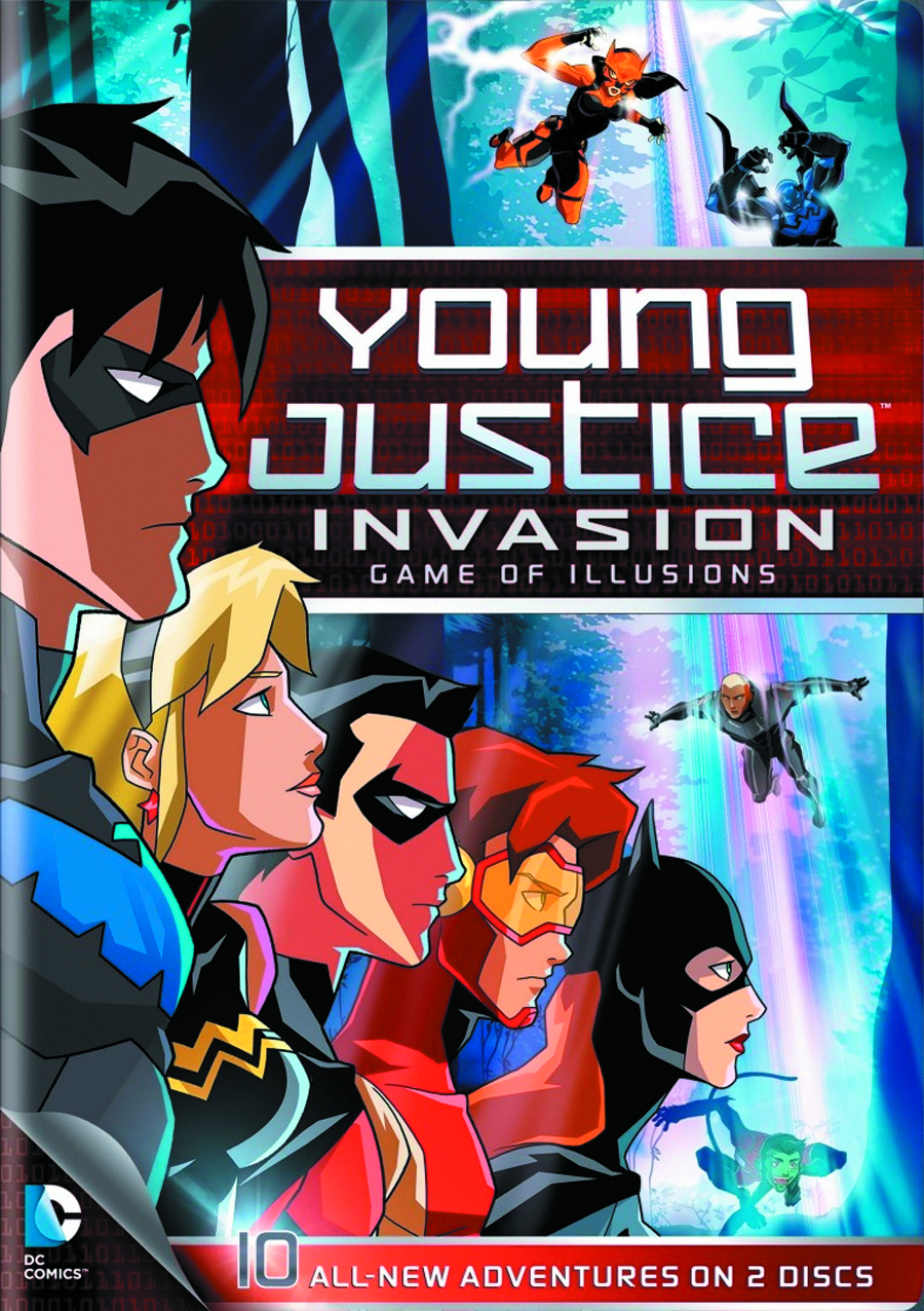YOUNG JUSTICE GAME OF ILLUSIONS DVD