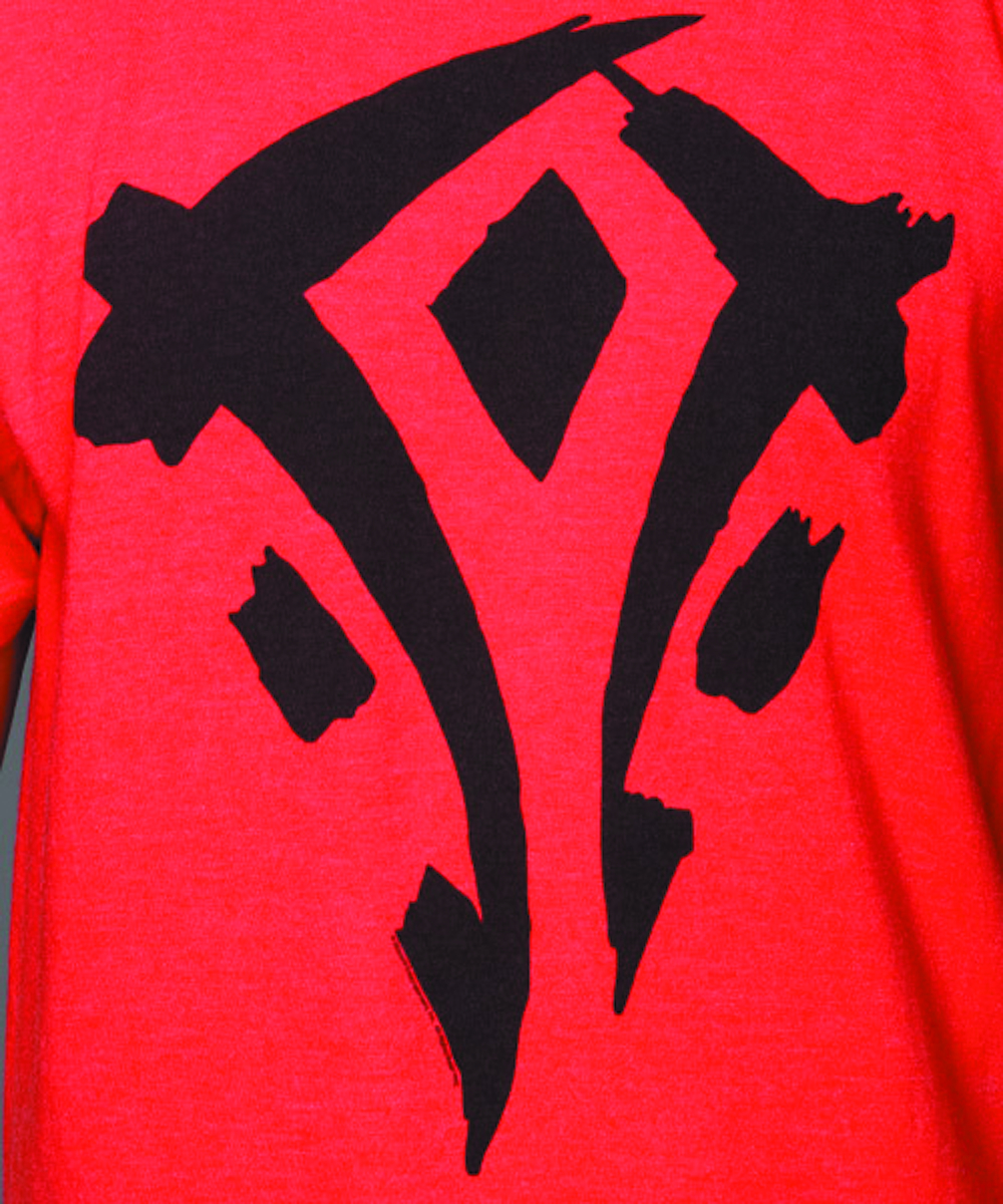 WARCRAFT HORDE FACTION RED T/S LG