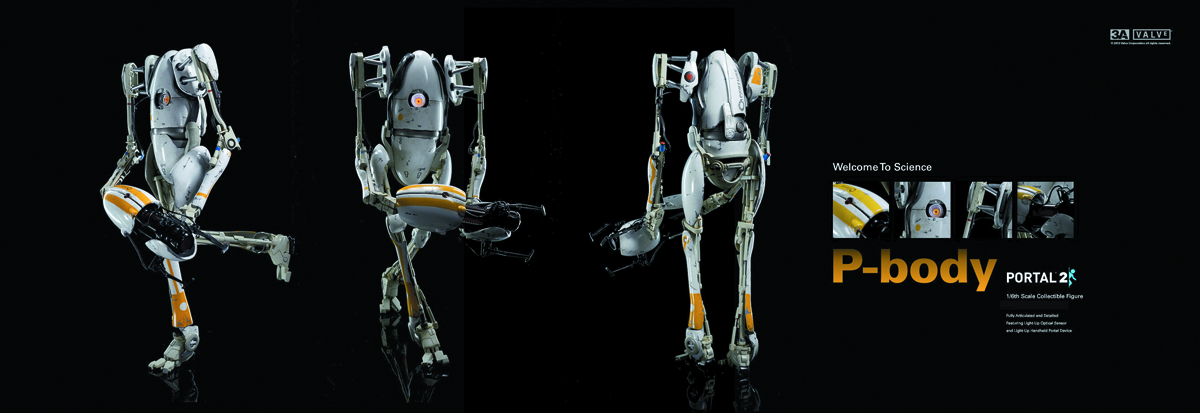 PORTAL 2 P-BODY 1/6 SCALE FIG
