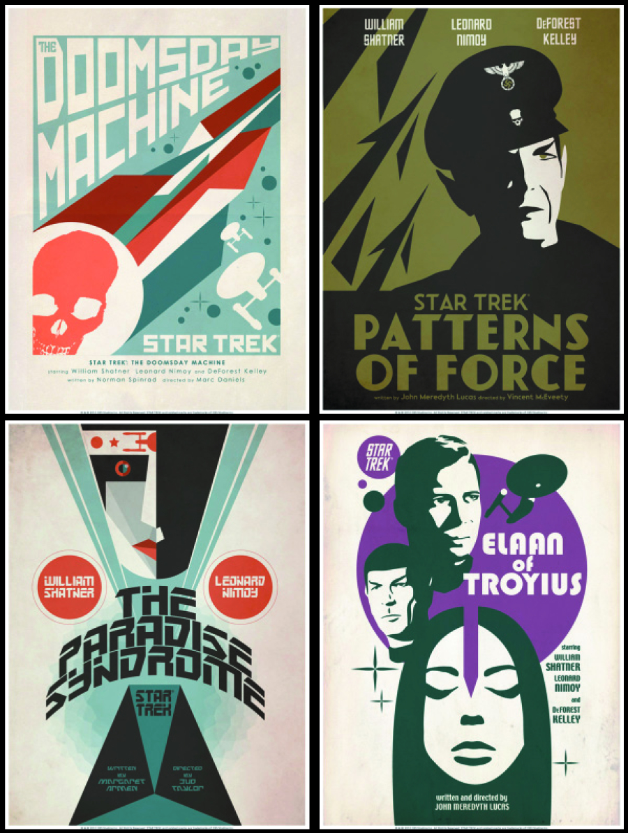 STAR TREK TOS ART PRINTS SET 9