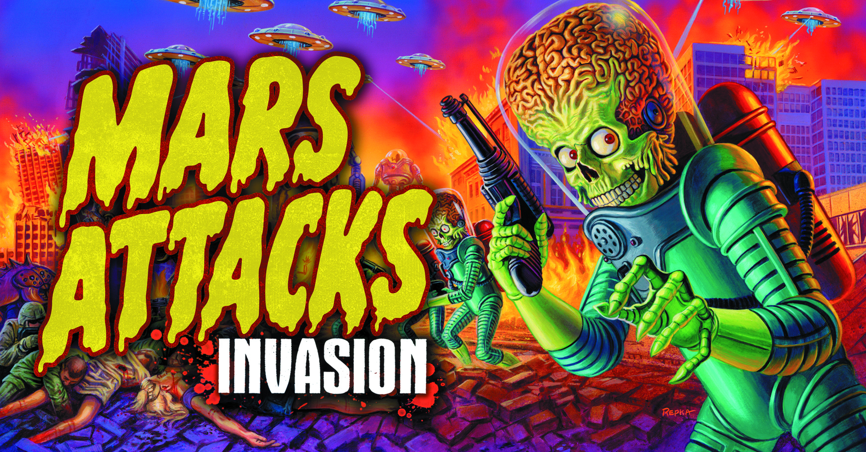 MARS ATTACKS INVASION T/C BOX