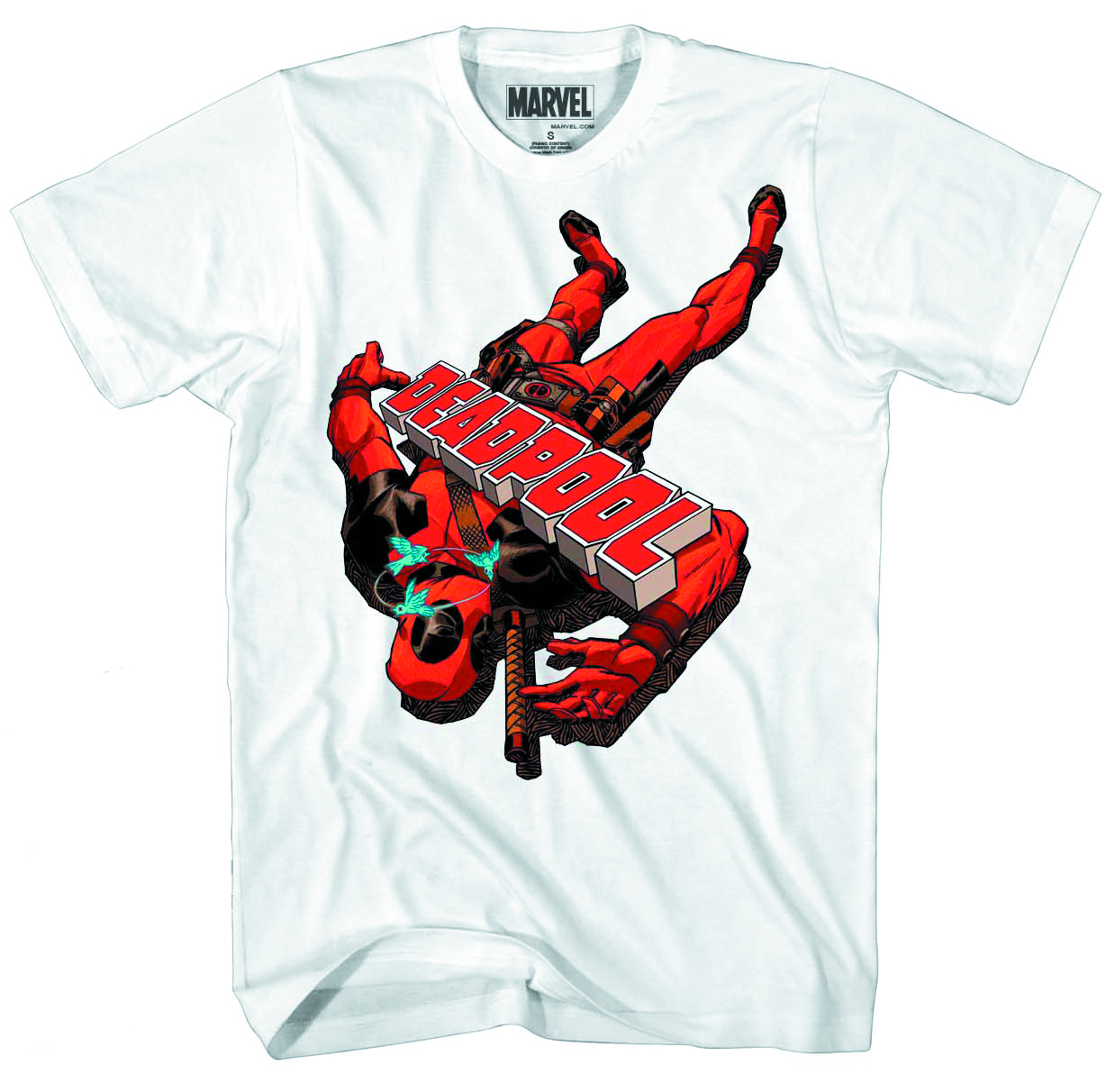 DEADPOOL FLOOR POOL PX WHT T/S XXL