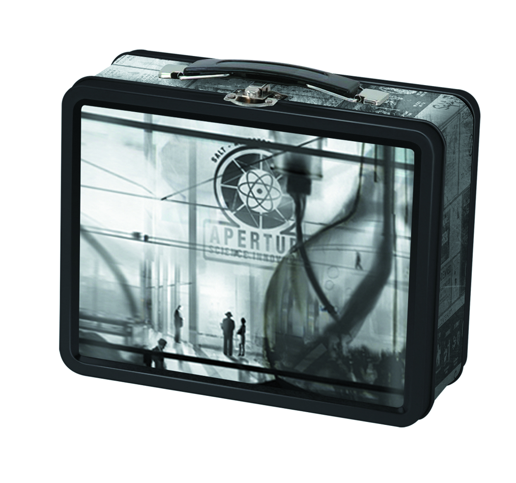 PORTAL 2 40S APERTURE LABORATORIES TIN LUNCH BOX