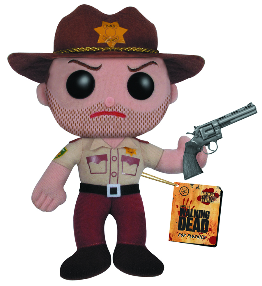 WALKING DEAD RICK GRIMES 7 INCH PLUSH