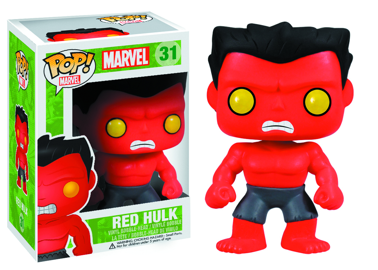 POP MARVEL RED HULK VINYL FIG