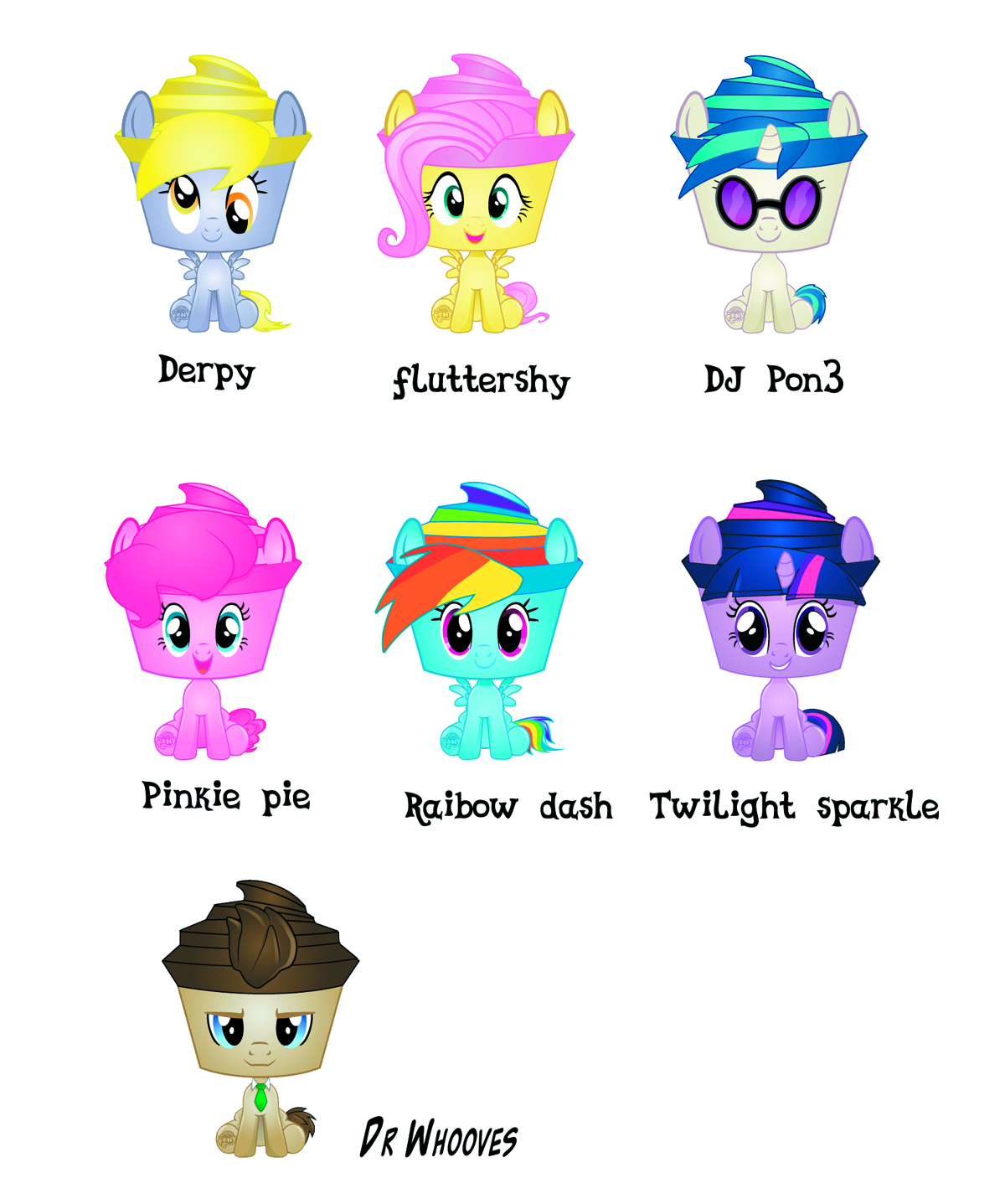 MLP PINKIE PIE CUPCAKE KEEPSAKES FIG