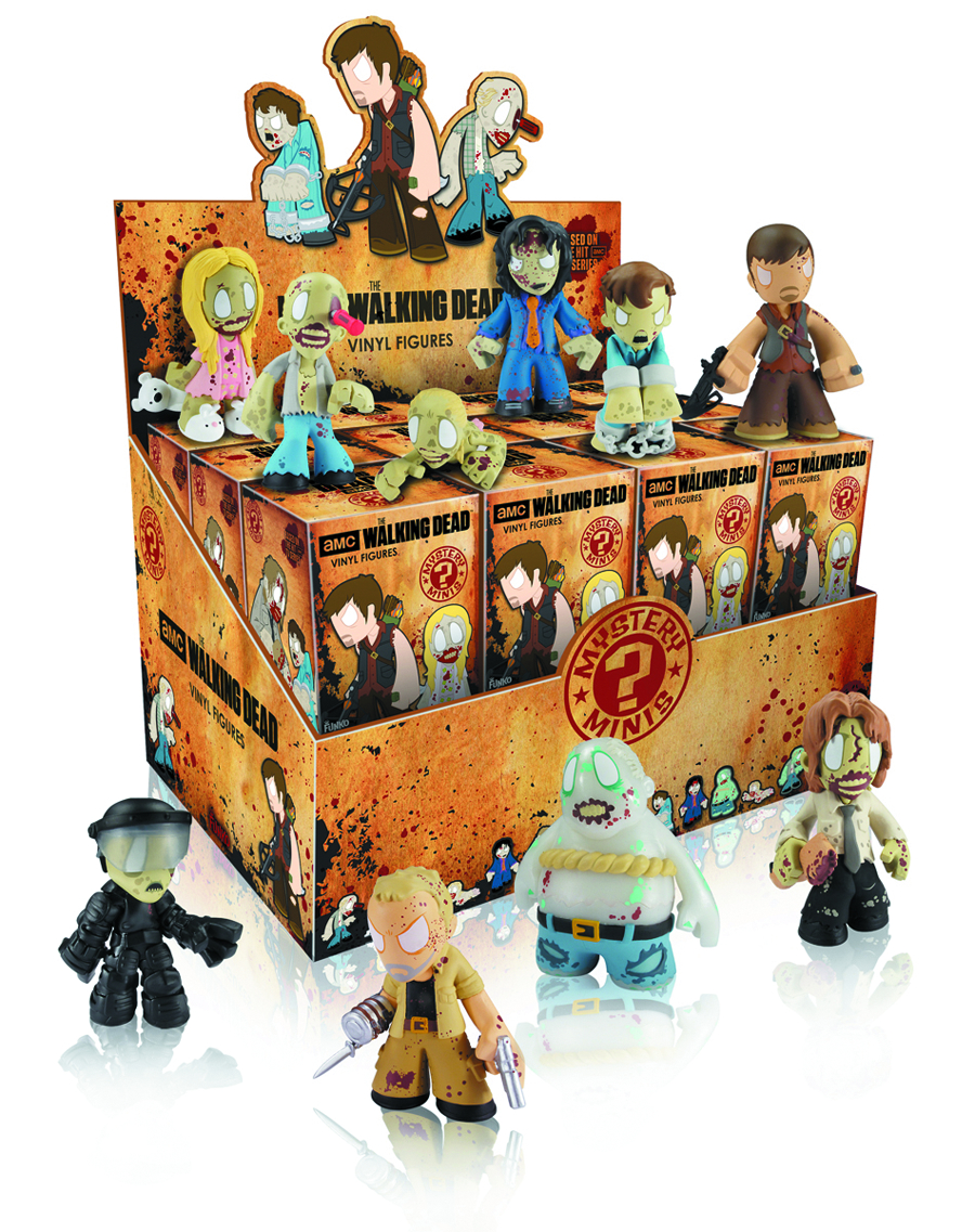 WALKING DEAD MYSTERIO MINIS 24PC DISP