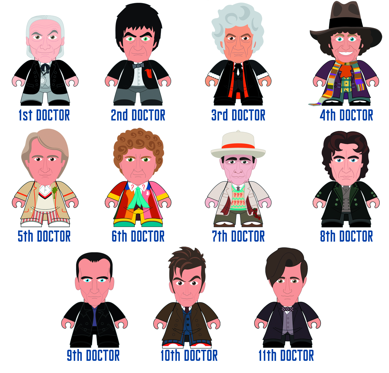 DOCTOR WHO TITANS MINI FIG 20PC BMB DS SER 03