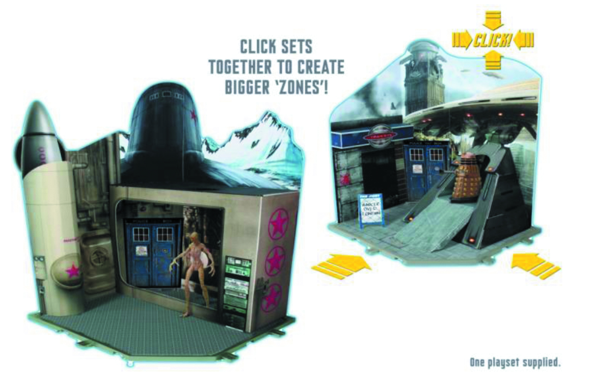 DOCTOR WHO 3.75IN AF PLAYSET ASST