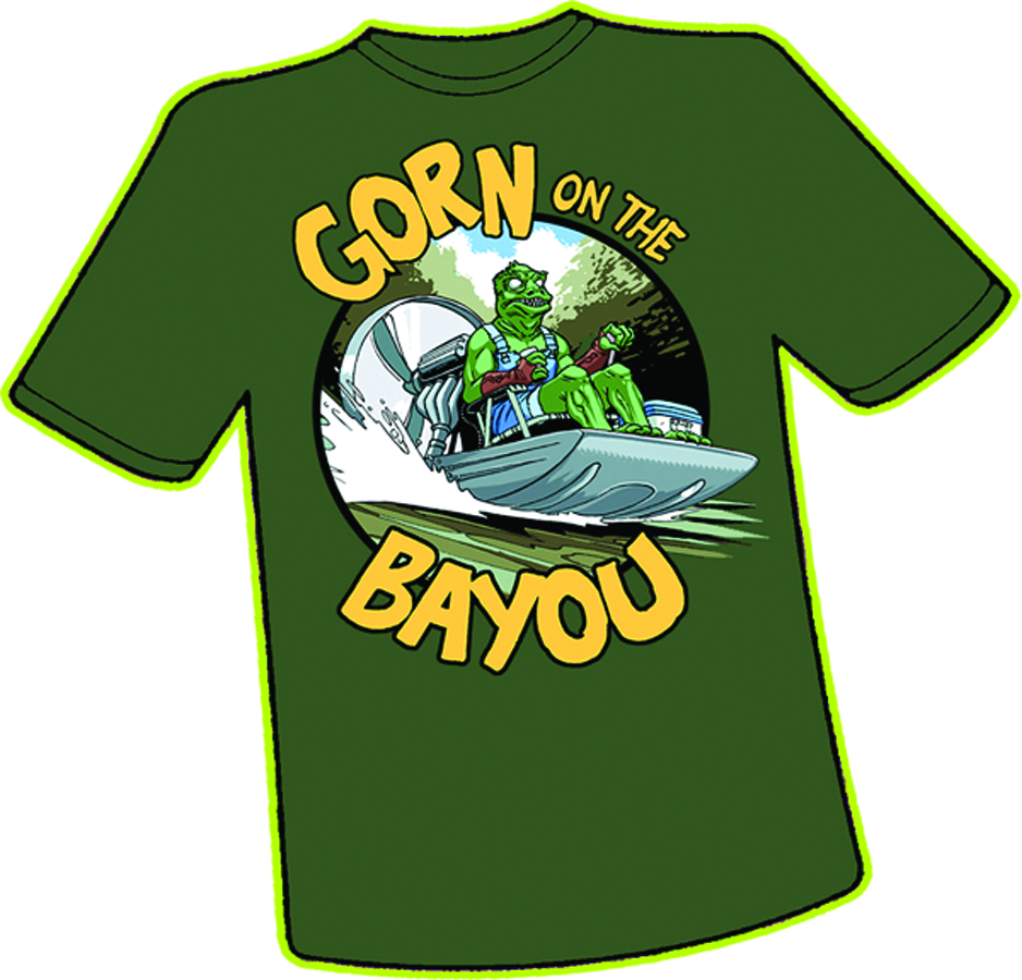 GORN ON THE BAYOU T/S LG