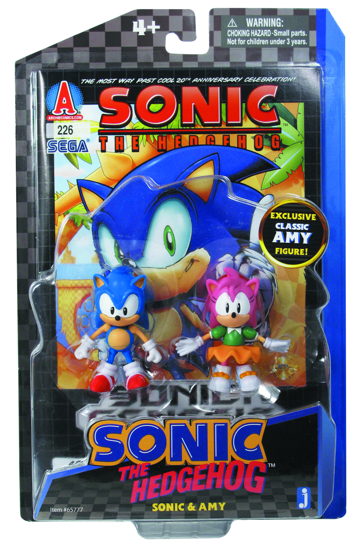 SONIC & AMY COMIC AF PACK