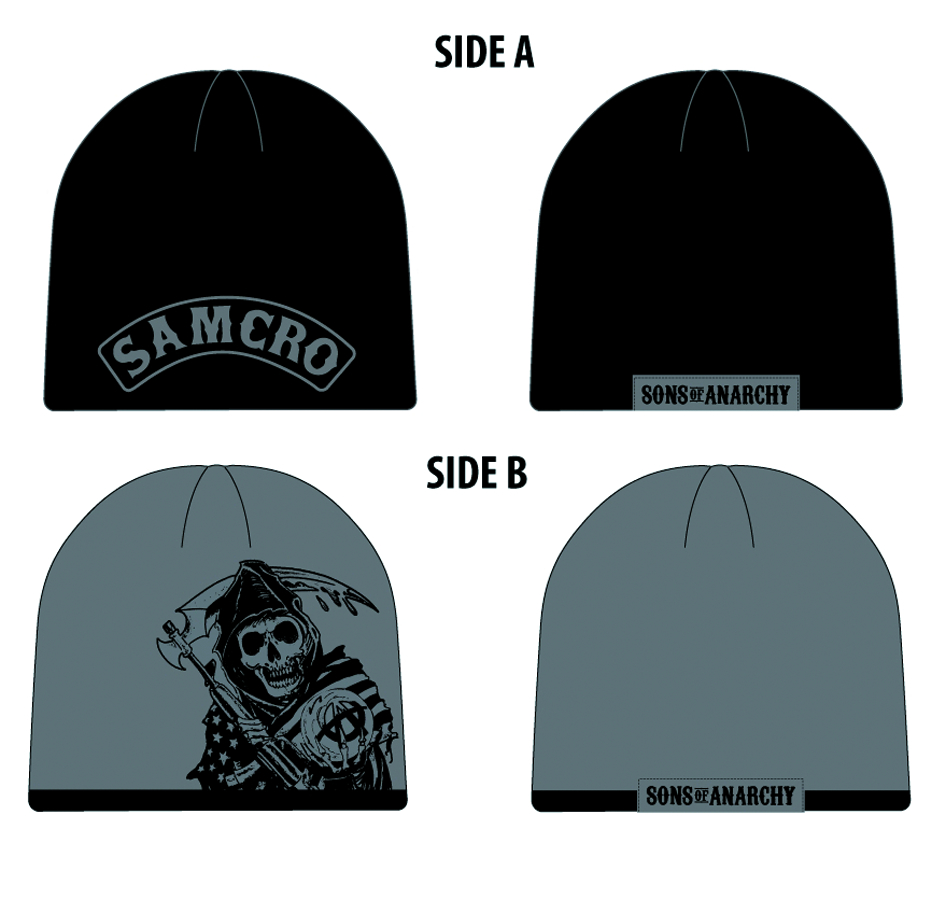 SONS OF ANARCHY SAMCRO REAPER REVERSIBLE BEANIE