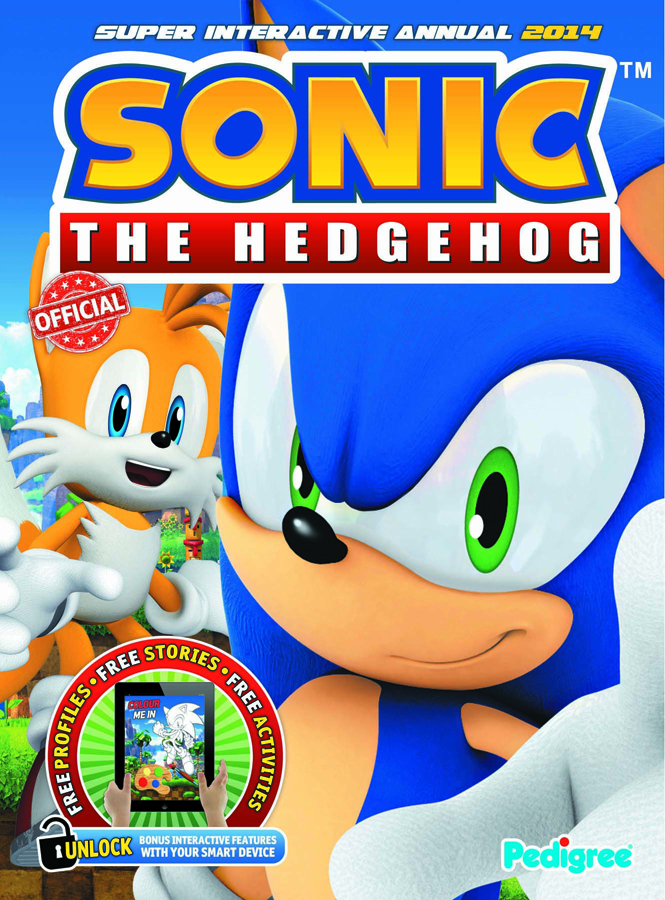 SONIC THE HEDGEHOG INTERACTIVE ANNUAL 2014 HC