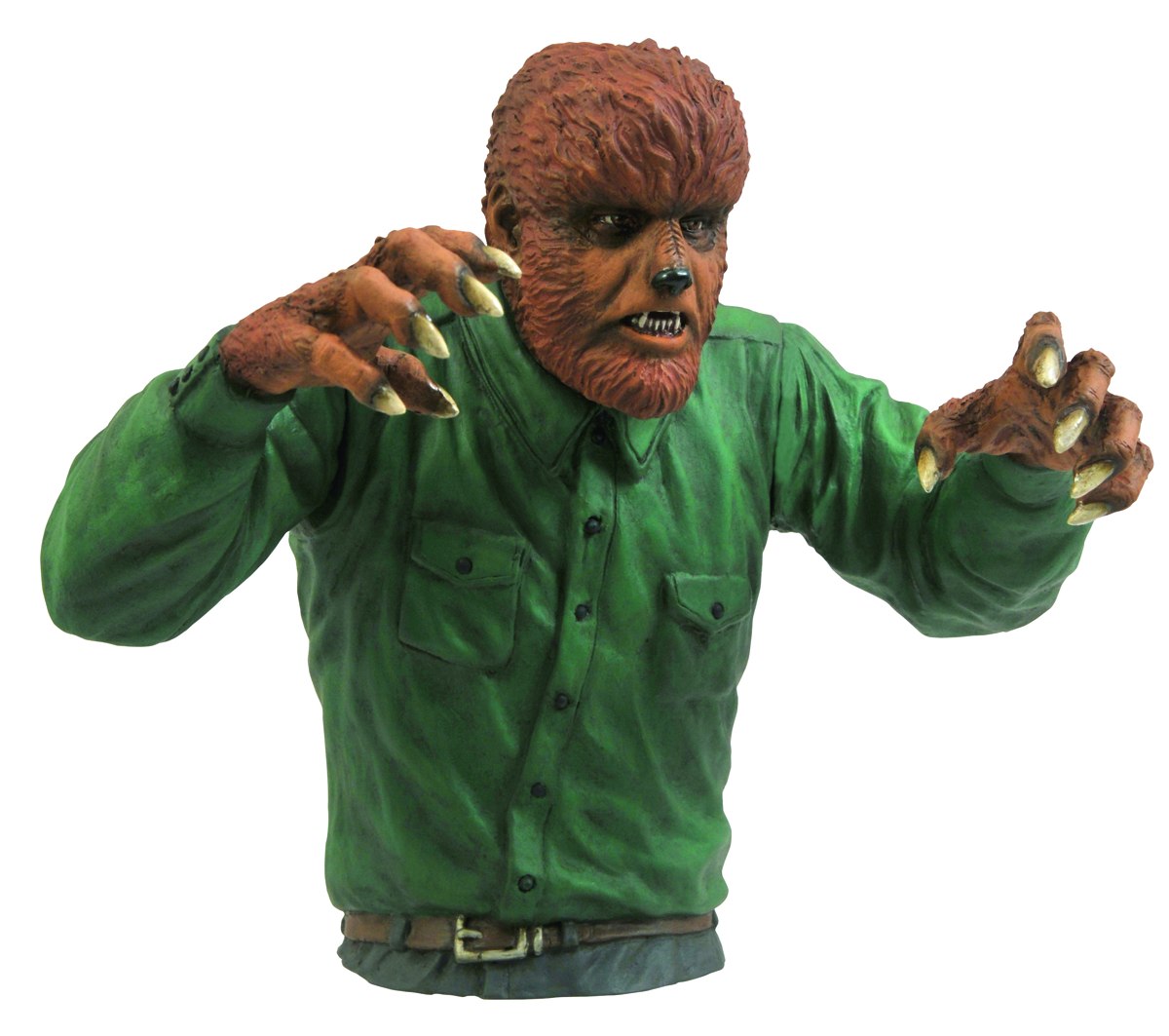 UNIVERSAL MONSTERS WOLFMAN BUST BANK