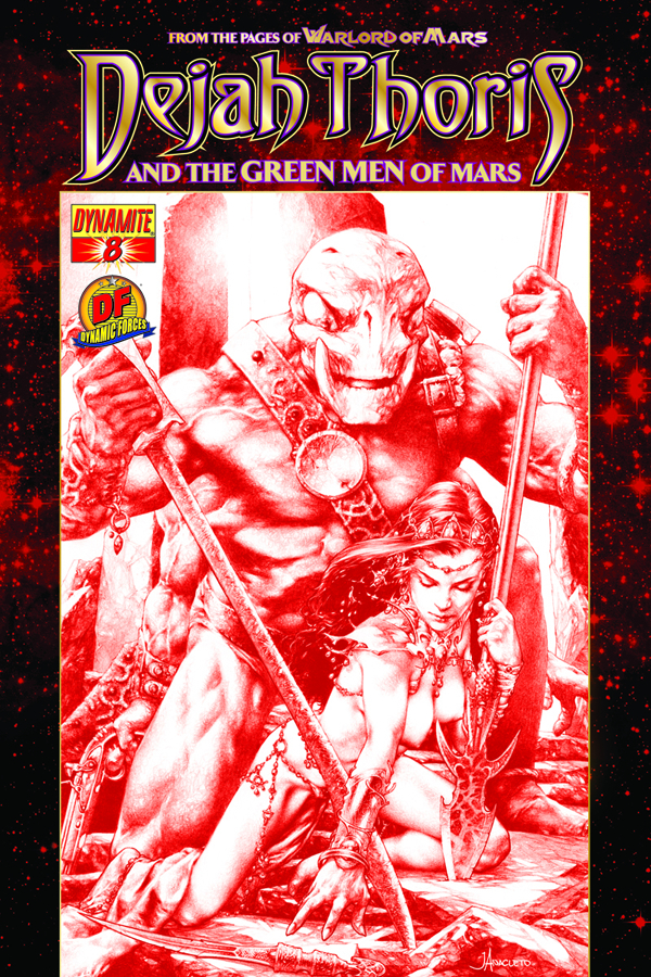 DF DEJAH THORIS GREEN MEN OF MARS #8 RISQUE RED CVR