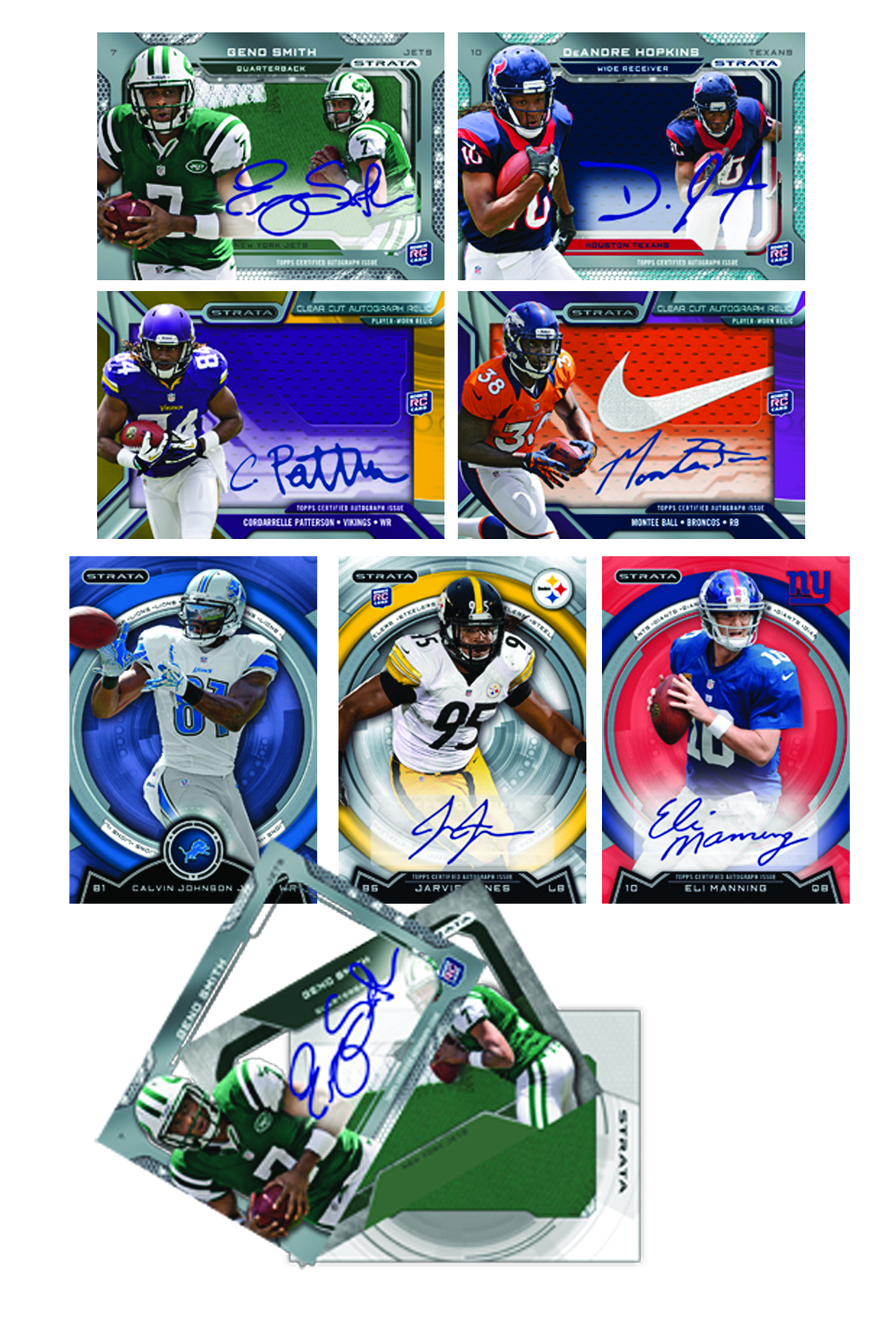 TOPPS 2013 STRATA FOOTBALL T/C BOX