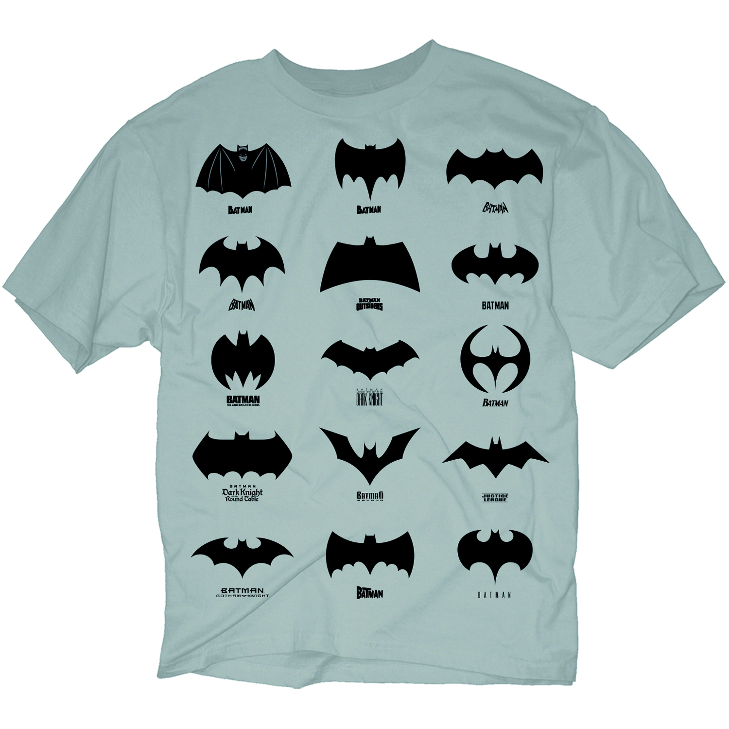 Aug131984 Evolution Of Batman Symbol Blk Ts Xxl Previews World