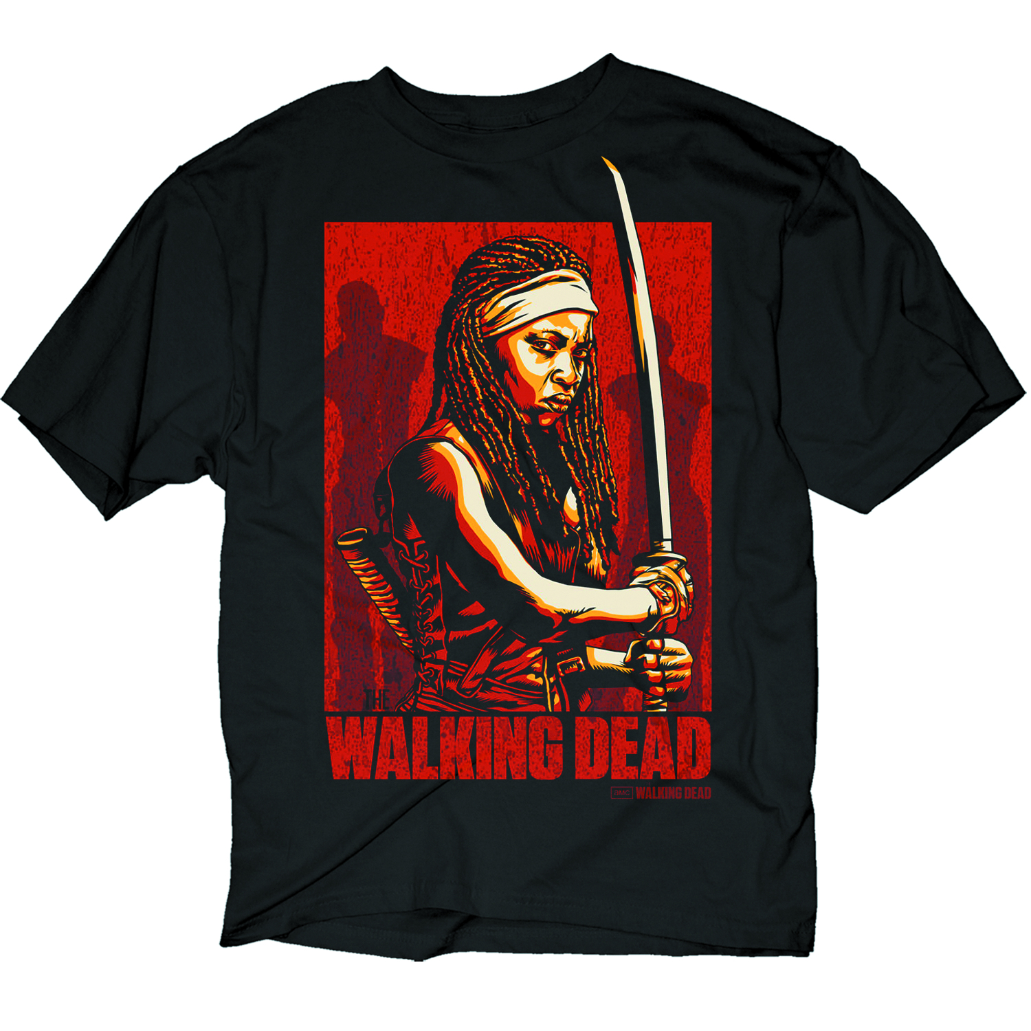 WALKING DEAD MICHONNE POSTER BLK T/S XL