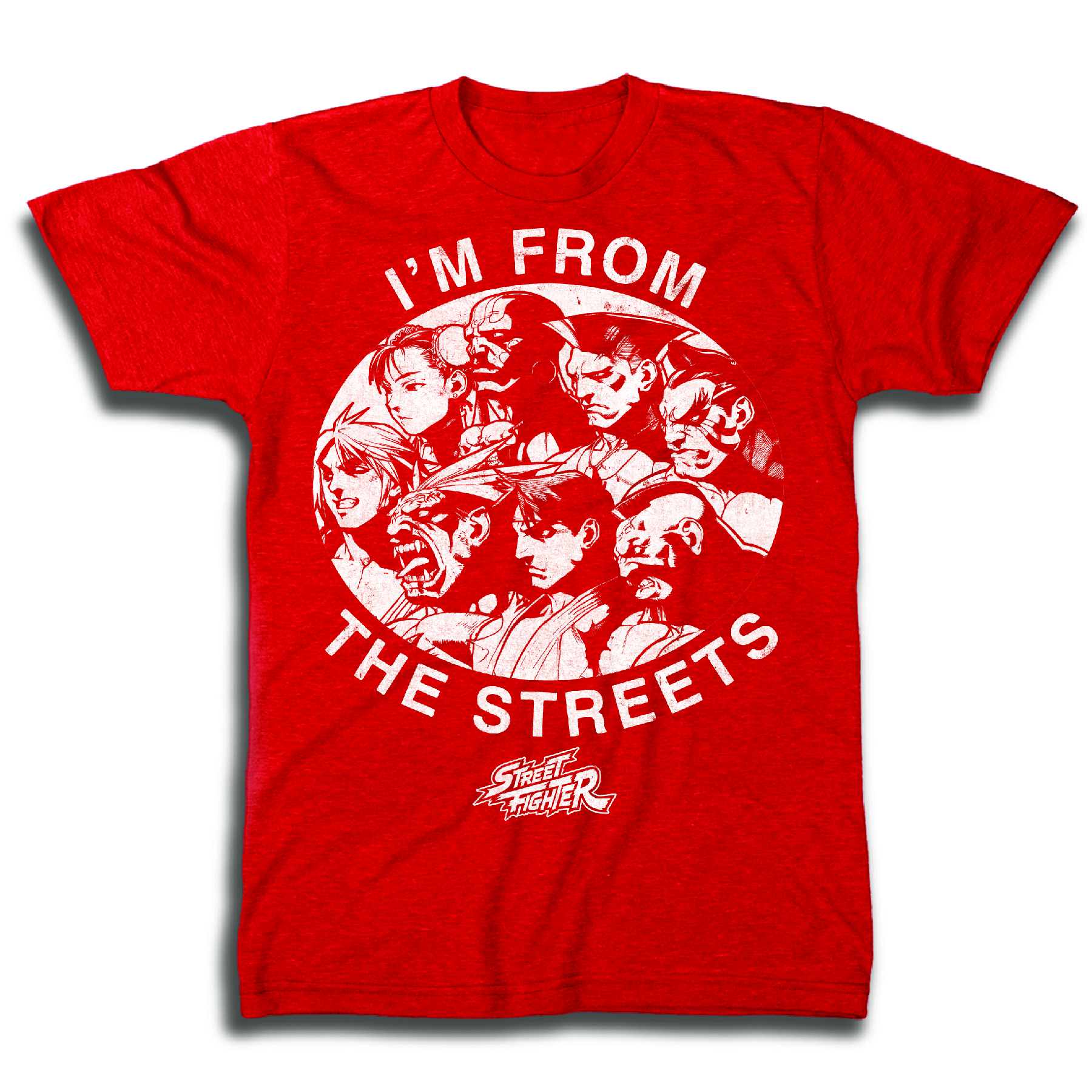 STREET FIGHTER THE STREETS PX RED T/S SM