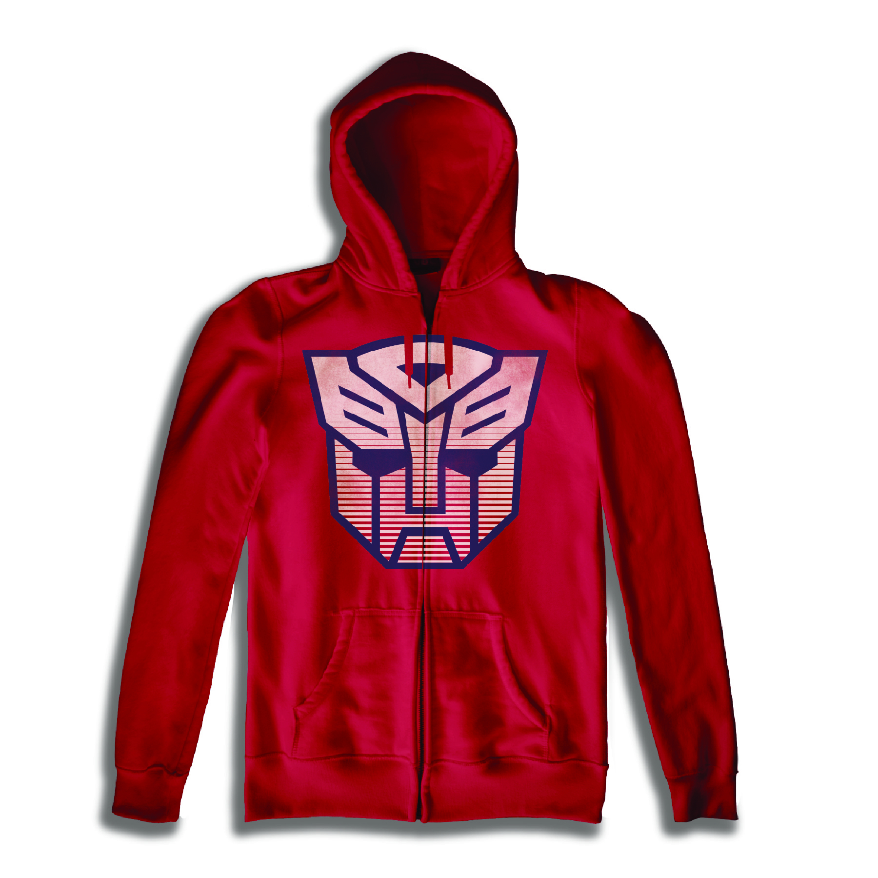 TRANSFORMERS AUTOBOT SYMBOL RED HOODIE LG