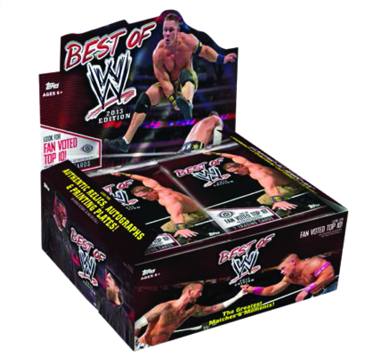 TOPPS 2013 BEST OF WWE T/C BOX
