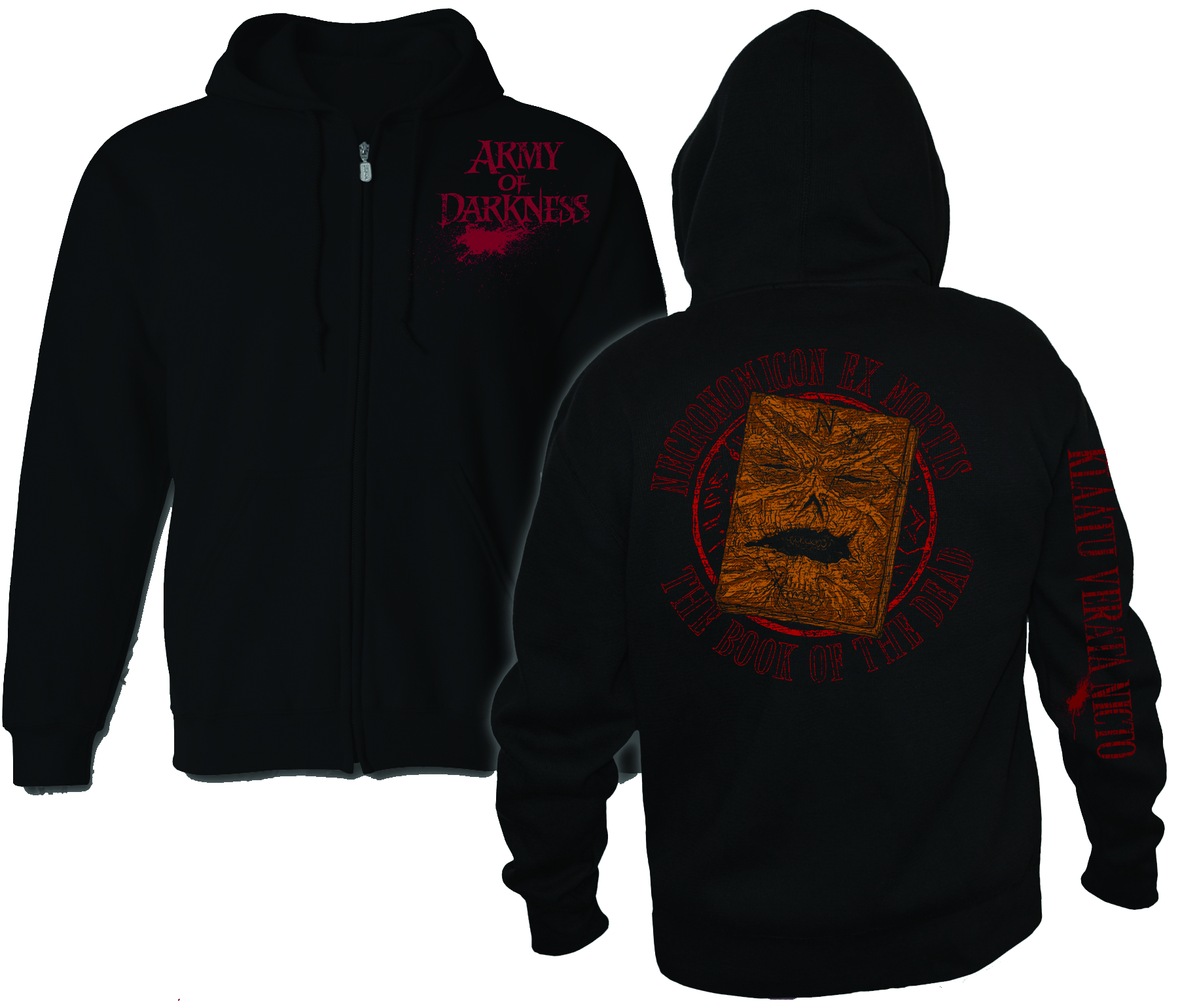 AOD NECRONOMICON PX ZIP HOODIE MED