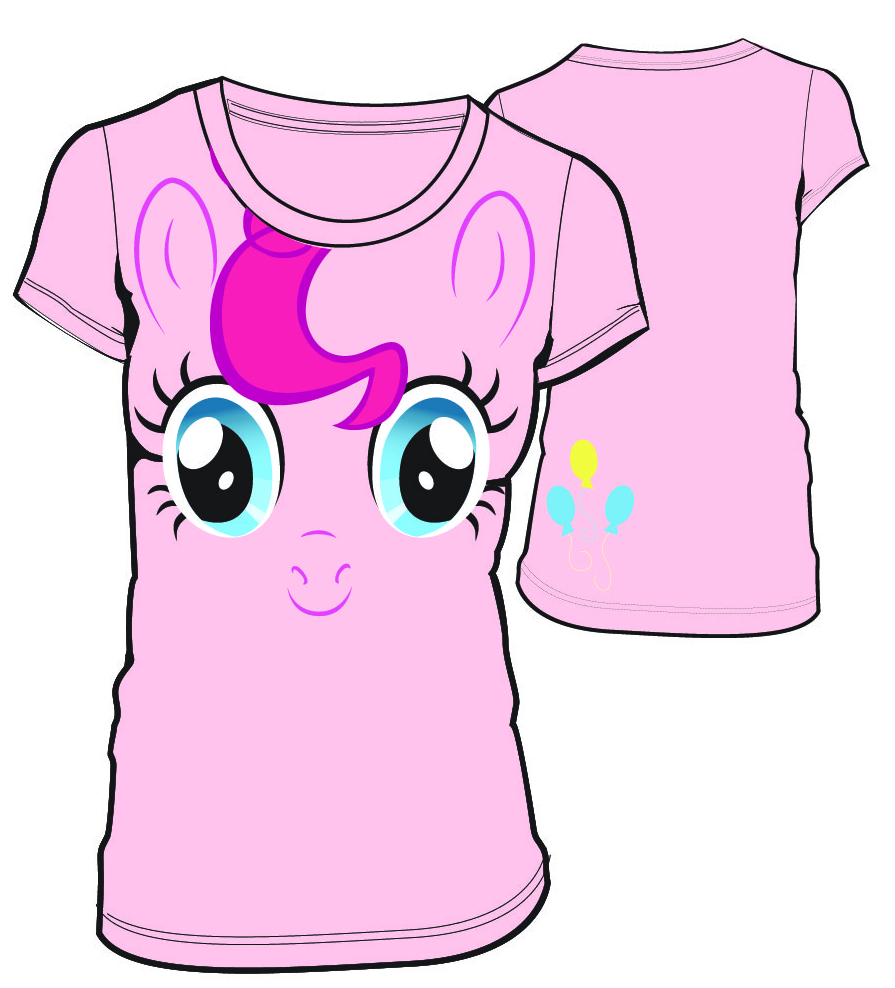MLP PINKIE PIE BIG FACE JRS T/S LG
