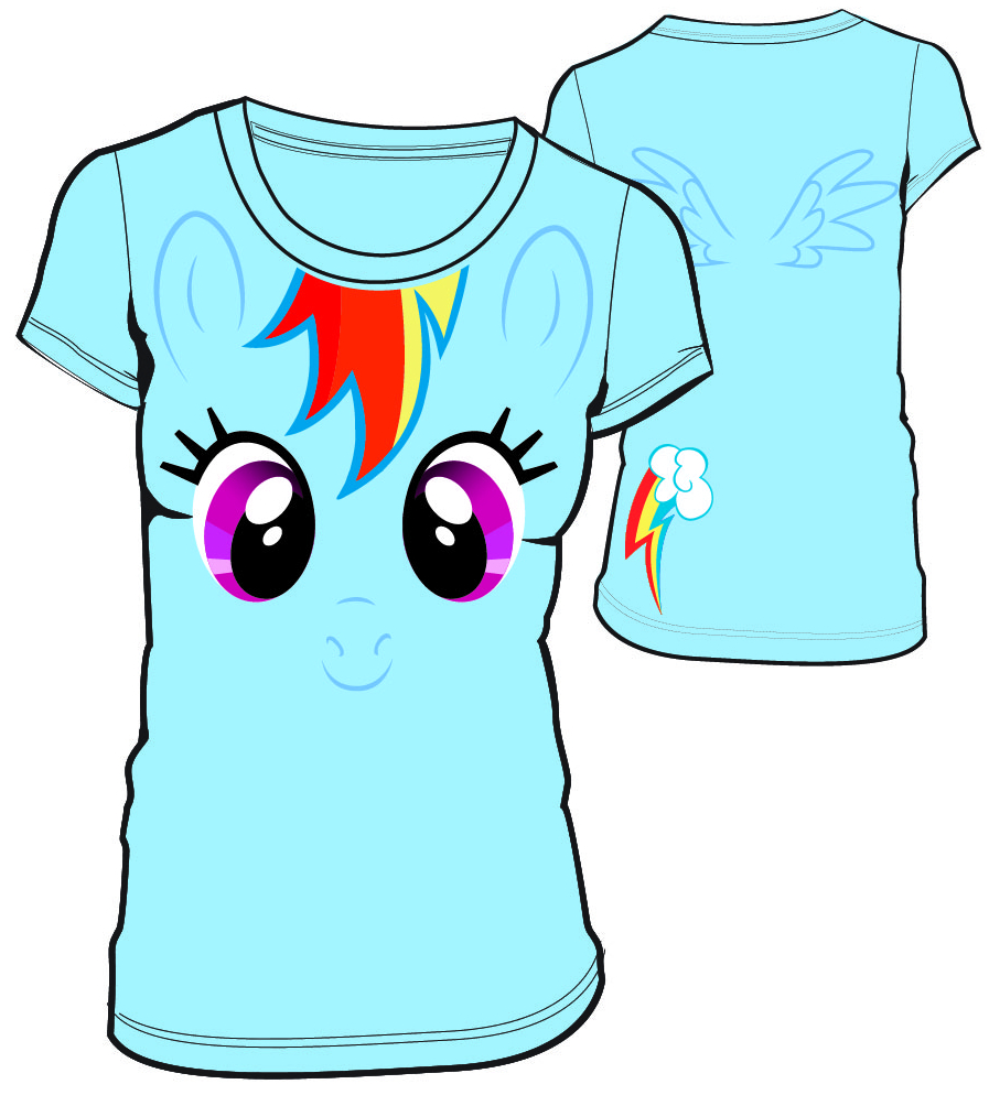 MLP RAINBOW DASH BIG FACE JRS T/S MED