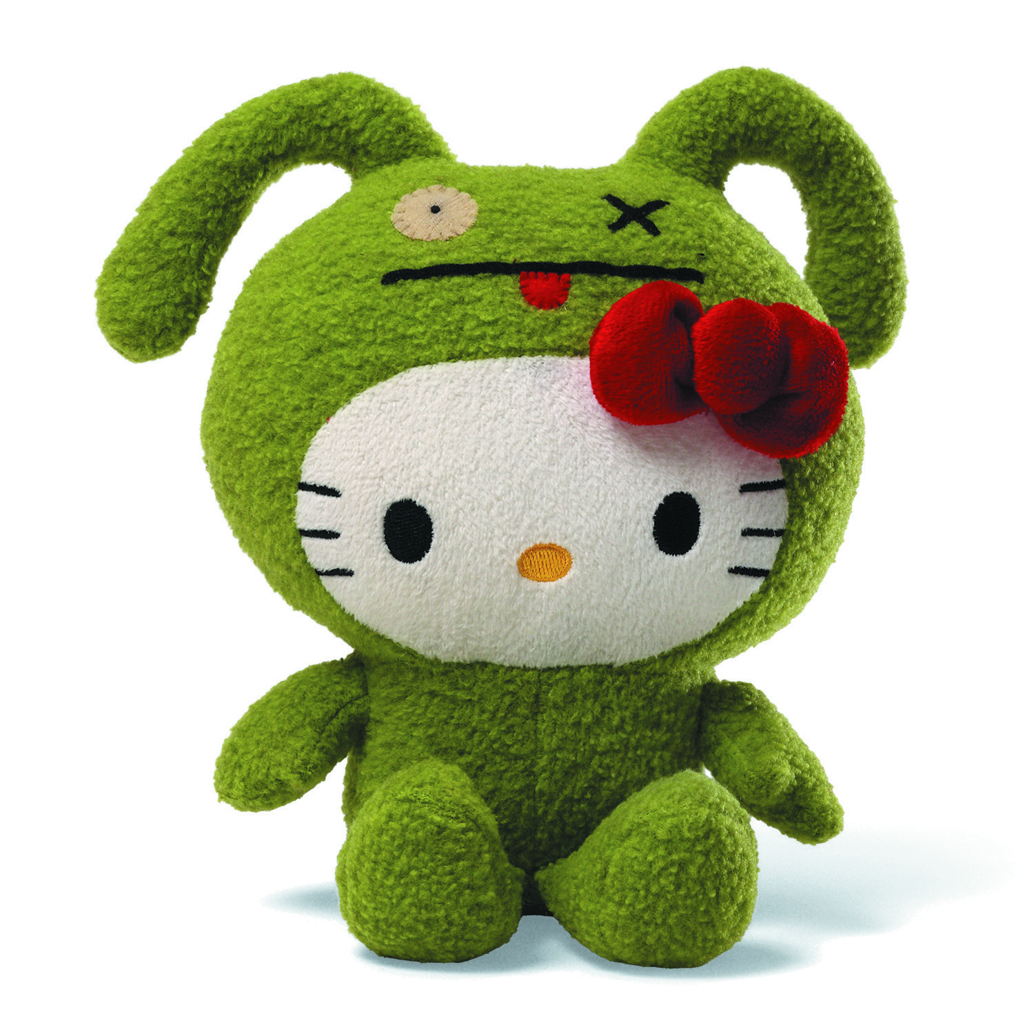 UGLYDOLL HELLO KITTY OX 7IN PLUSH