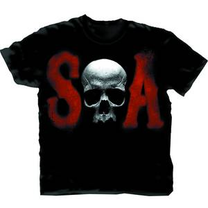SONS OF ANARCHY MEN OF MAYHEM BLK T/S LG