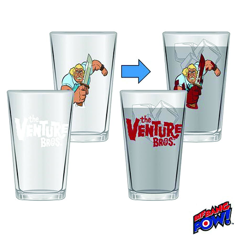 VENTURE BROS COLOR CHANGE BROCK 16OZ GLASS 2-PC SET