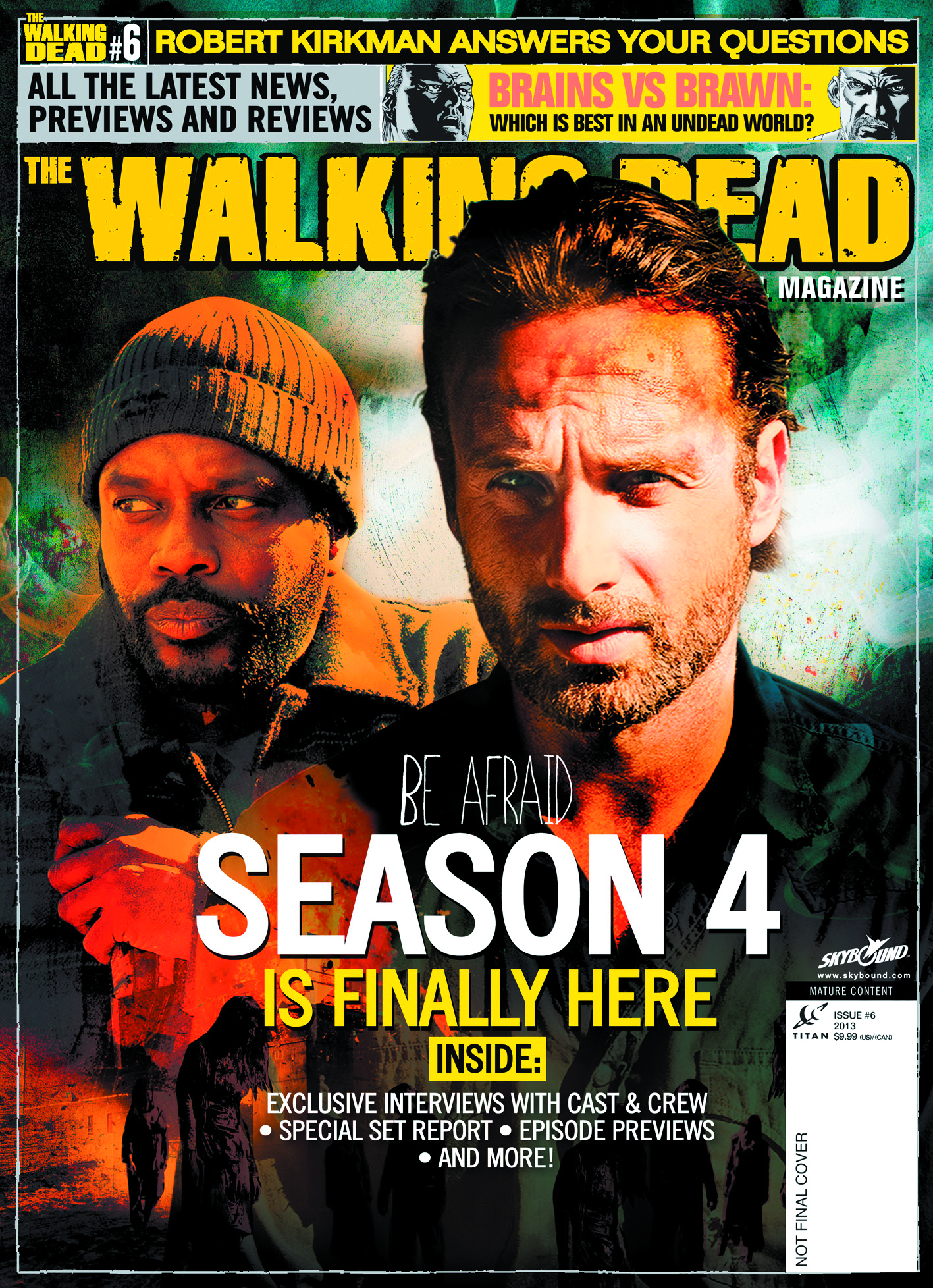 WALKING DEAD MAGAZINE #6 NEWSSTAND ED