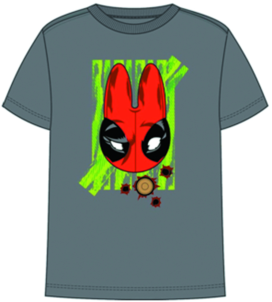 DEADPOOL LABBIT PX CHARCOAL T/S LG
