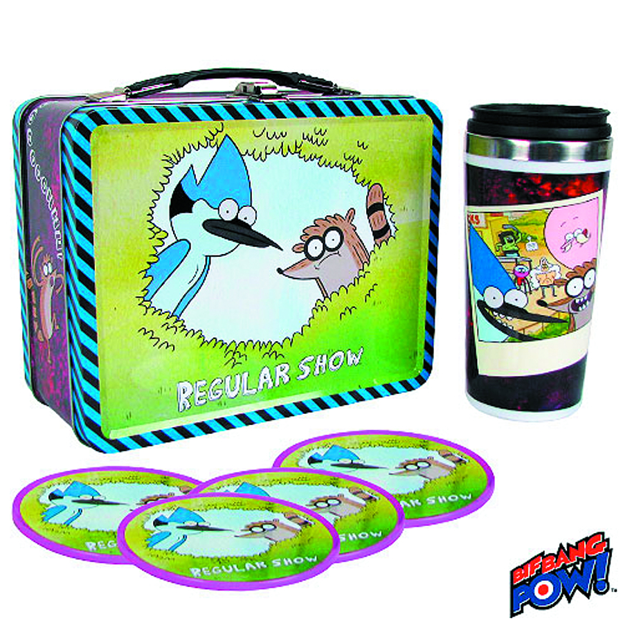 REGULAR SHOW TIN TOTE GIFT SET