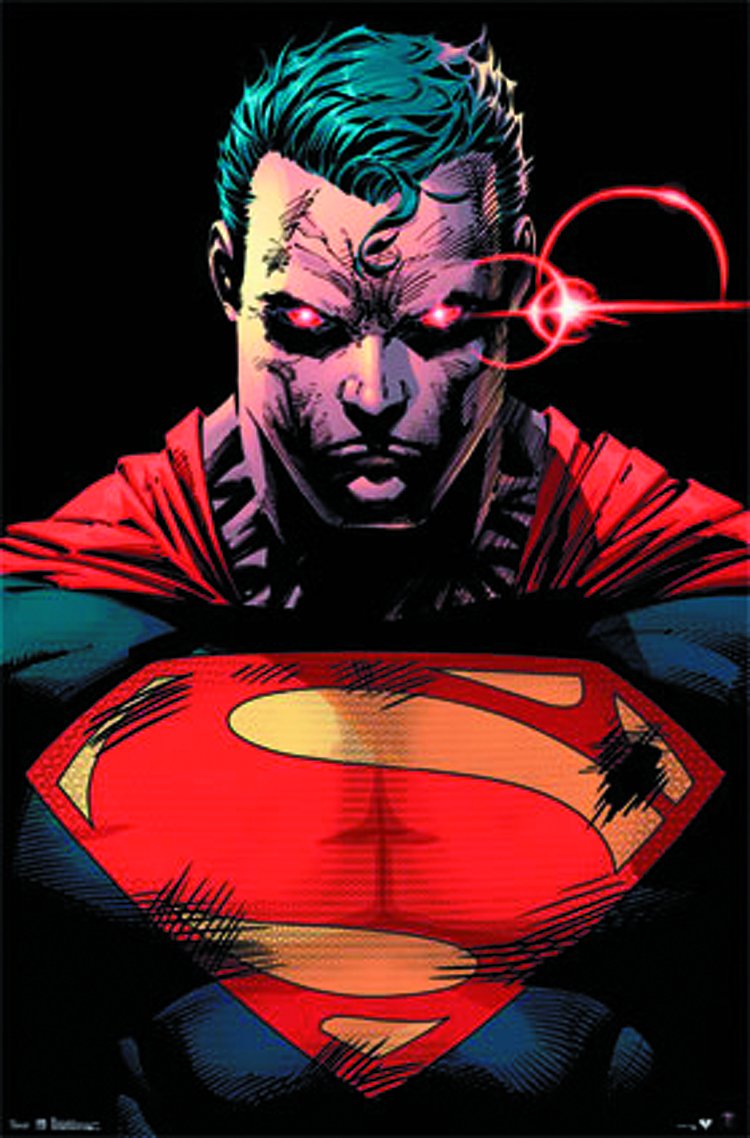 MAN OF STEEL HEAT VISION 22X34 POSTER