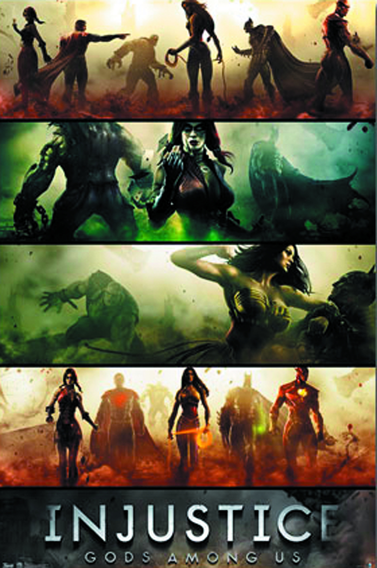 INJUSTICE BANNERS 22X34 POSTER