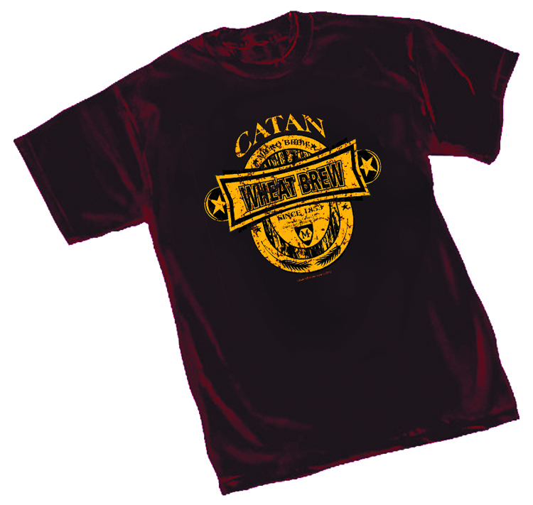 CATAN WHEAT BREW MAROON T/S MED