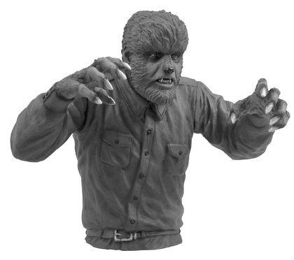 UNIVERSAL MONSTERS WOLFMAN B&W BUST BANK