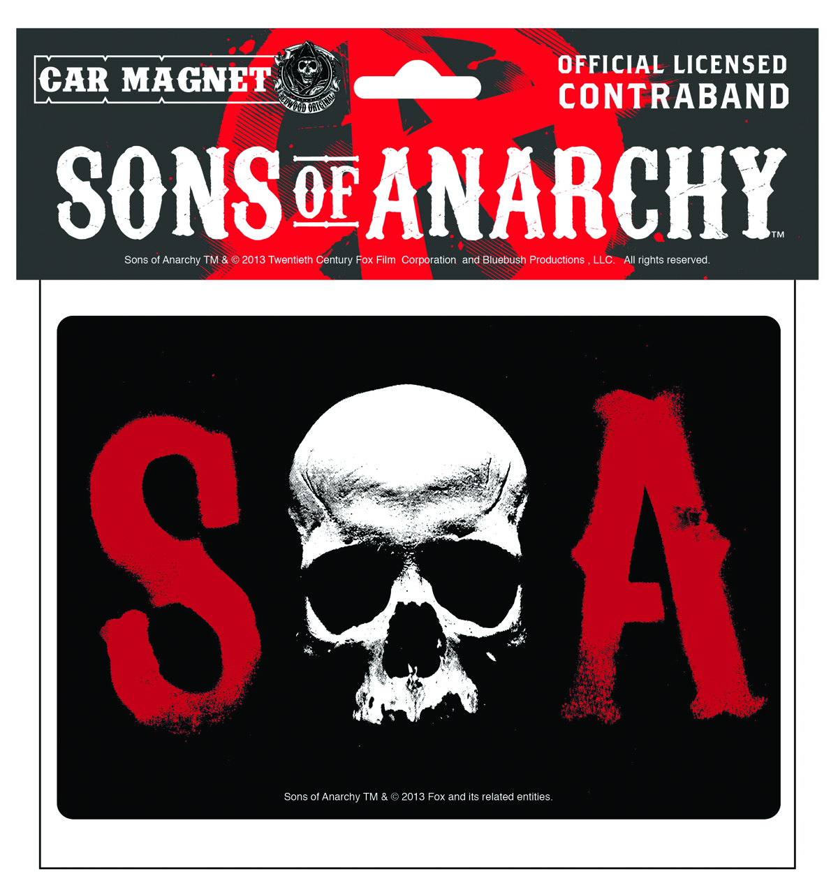 SONS OF ANARCHY CAR MAGNET