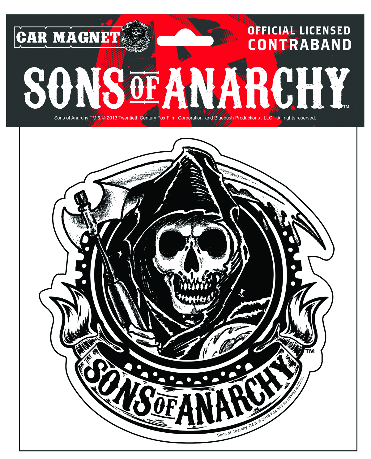 SONS OF ANARCHY S SKULL A CAR MAGNET