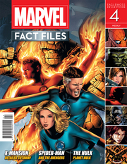 MARVEL FACT FILES #4 FANTASTIC FOUR COVER
