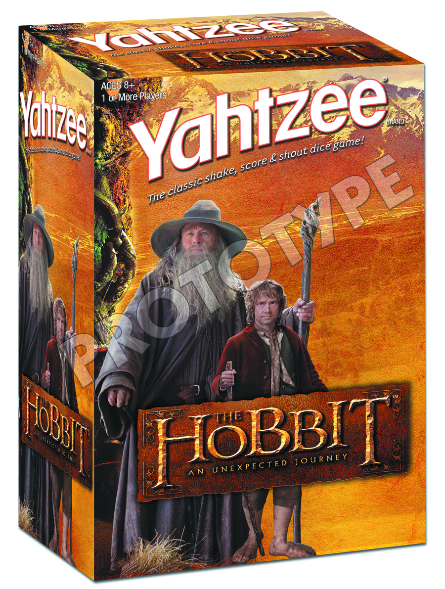 HOBBIT UNEXPECTED JOURNEY YAHTZEE COLLECTORS EDITION