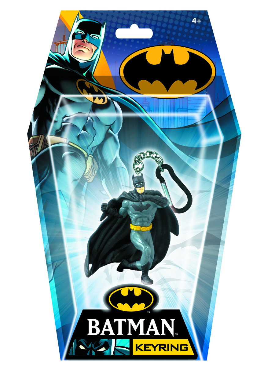 "BATMAN PUNCHING 2.75"" FIGURAL KEYRING"